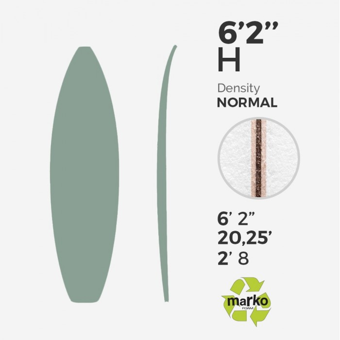 6 2 thick eps surfboard blank viral surf for shapers