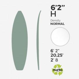 6'2'' H EPS - 6'2,75'' x 20,25'' x 2,8'' - sans latte, MARKO FOAM