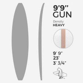 ARCTIC Foam 9'9'' GUN - Blue Density