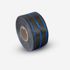 Hybrid carbon and blue fiberglass reinforcement tape