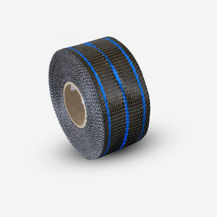 Bande de renfort hybride carbone et verre couleur bleu