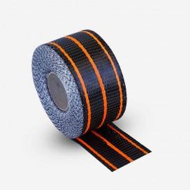 Banda de refuerzo hybrid de carbono y fibra de vidrio de color naranja