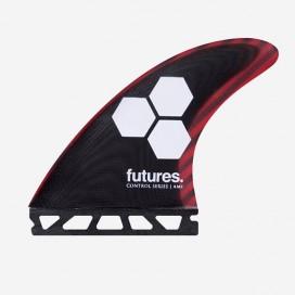 Dérives Thruster - FAM1 Control Series fiberglass Black / Cherry, FUTURES.