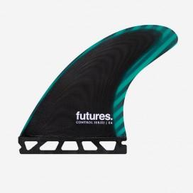 Dérives Thruster - FEA Control Series fiberglass Black / Teal, FUTURES.