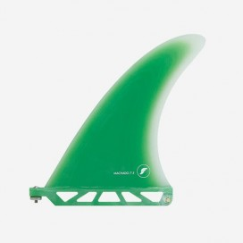 "Longboard fin - Rob Machado Fiberglass Green / Clear 7.5"", FUTURES."