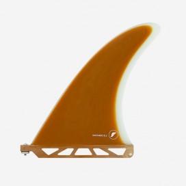 "Longboard fin - Rob Machado Fiberglass Rust / Clear 8.5"", FUTURES."