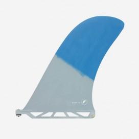 "Longboard fin - Rudder Fiberglass Blue / Grey 10"", FUTURES."