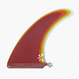 """9"""" longboard single fin - Main red - VIRAL Surf"""