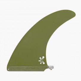 "Quilla de longboard single 9"" - Old Green, VIRAL Surf"