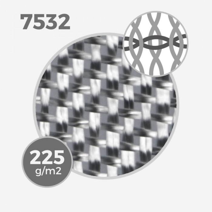 Tissu de fibre de verre Volan ref 7532 - Volan 7.2 oz - 225 gr/m - largeur 76cm, BGF