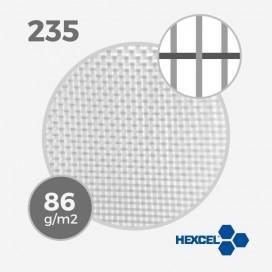 HEXCEL 235 - 2.8 oz - 86 gr/m - anchura 53cm, tejido de fibra de vidrio HEXCEL para la estratificación de una tabla de surf - V