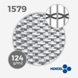 Tissu de fibre de verre E ref 1579 - 4 oz warp glass- 125 gm - largeur 65 cm, HEXCEL