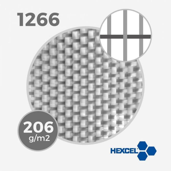 HEXCEL 1266 - 5.5 oz - 206 gr/m - largeur 130cm, tissu / fibre de verre HEXCEL pour la stratification d'une planche de surf - V