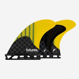 5 fins - F4 Generation series, yellow, FUTURES.
