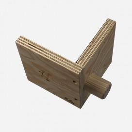 Calle à 90° en bois