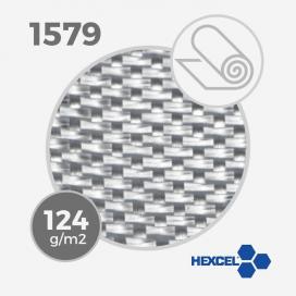 Tissu de fibre de verre E ref 1579 - 4 oz warp glass- 125 gm - largeur 65 cm (rouleau), HEXCEL