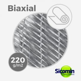 Tissu de fibre de verre biaxial BX 220 gr/m, largeur 127cm (rouleau de 142m), FLEXGLASS