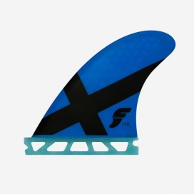 Thruster fins - FCTG - Honeycomb, Blue X, FUTURES.