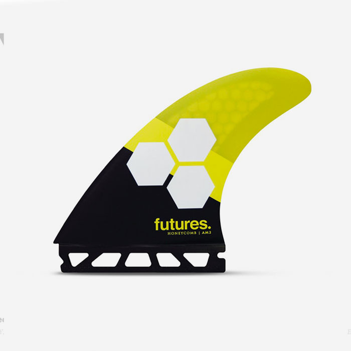 Dérives Thruster - FAM2 Al Merrick RTM Hex black & yellow, FUTURES.