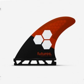Dérives Thruster - FAM3 Al Merrick RTM Hex black & red, FUTURES.