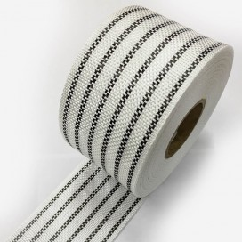 Bande de renfort hybride fibre de verre et carbone (12 fils), largeur 80mm