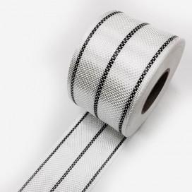 Bande de renfort hybride fibre de verre et carbone (3 stripes), largeur 80mm