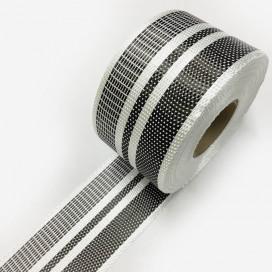 Bande de renfort hybride fibre de verre et carbone avec motifs réversibles, largeur 75mm