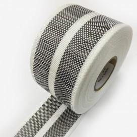 Bande de renfort hybride fibre de verre et carbone avec 2 bandes larges, largeur 80mm