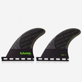 4.00 QD2 rear fins Blackstix 3.0 Light Green / Carbon, FUTURES.