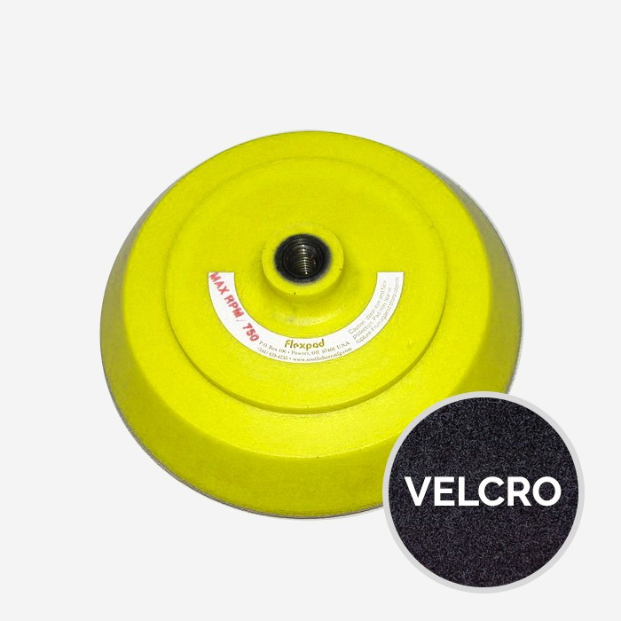 Pad / Plateau de ponçage velcro - diam. 200mm (8'') - densité SOFT, FLEXPAD