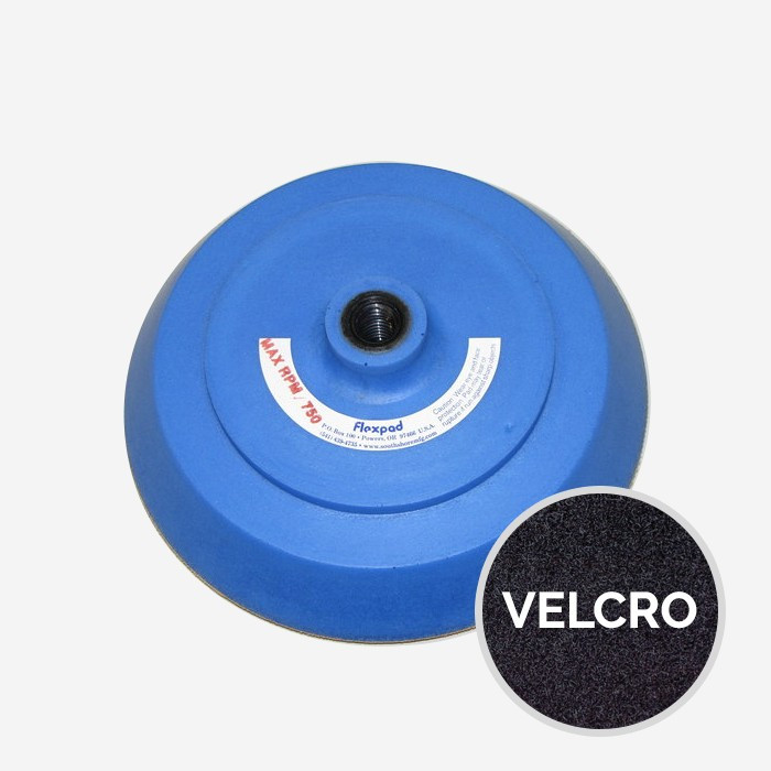 8 Inch Softie Blue Flexpad velcro 14mm Hub
