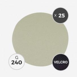 Disque à poncer - diam. 205mm - grain 240 (boîte de 25 disques) - White Line, 3M