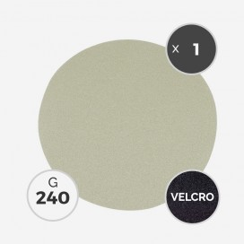 Disque à poncer - diam. 205mm - grain 240 (1 disque) - White Line, 3M