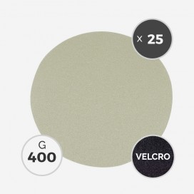 Disque à poncer - diam. 205mm - grain 400 (boîte de 25 disques) - White Line, 3M