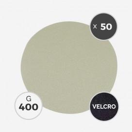Disque à poncer - diam. 205mm - grain 400 (boîte de 50 disques) - White Line, 3M