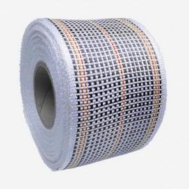Bande de renfort hybride fibre de verre et carbone - fils oranges, largeur 80mm