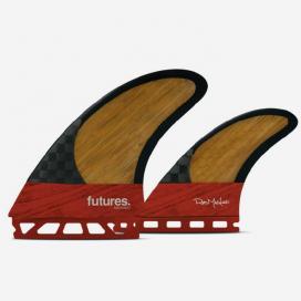 Twin fins + 1 Blackstix - Rob Machado Bamboo / Red, FUTURES.