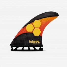 Dérives Thruster - FAM2 Al Merrick Techflex orange / red, FUTURES.