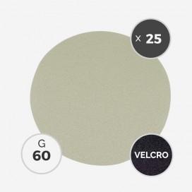 Disque à poncer - diam. 205mm - grain 60 (boîte de 25 disques) - White Line, 3M