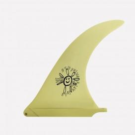 "CAPTAIN FIN CO - Longboard Fin - Alex Knost Flex fin Sunshine Yellow 10.0"""