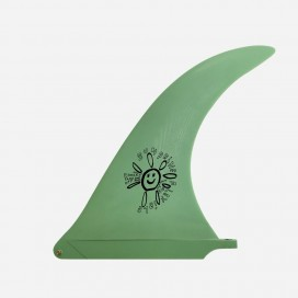 "CAPTAIN FIN CO - Longboard Fin - Alex Knost Flex fin Sunshine Green 10.0"""