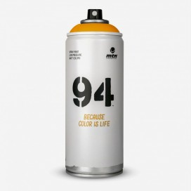 Bombe de peinture MTN 94 Orange Peche - 400ml, MONTANA