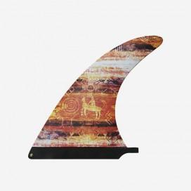 """CAPTAIN FIN CO - Raked Longboard Fin - Kassia Meador 9.8"""" Red"""