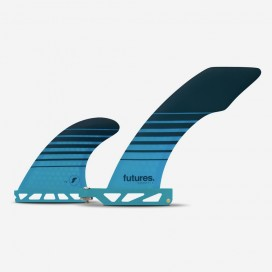 Futures longboard fin HATCHET 2+1 blue