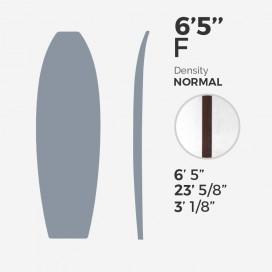 6'5'' F Fish - latte 5/32'' Dark Wood, MILLENNIUM FOAM