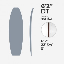 6'2'' DT Fish - latte 1/8'' Dark Wood, MILLENNIUM FOAM