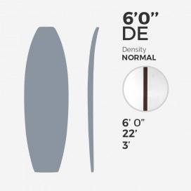 6'0'' DE Fish - latte 5/32'' Dark Wood, MILLENNIUM FOAM