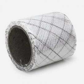 Bande de renfort en fibre de verre quadriaxiale, fils noirs, largeur 76mm