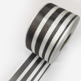 Carbon Fiber Tape mixed with Fibreglass - gradient - width 80mm