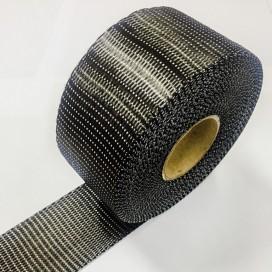 Bande de renfort carbone uni-directionnelle, largeur 75mm